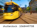 manchester  england. light rail ... | Shutterstock . vector #1068449708
