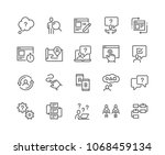 simple set of ux related vector ... | Shutterstock .eps vector #1068459134