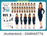 woman character creation set.... | Shutterstock .eps vector #1068465776