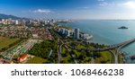 aerial panoramic view of penang ... | Shutterstock . vector #1068466238