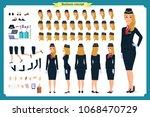 woman character creation set.... | Shutterstock .eps vector #1068470729