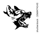 canine logo vector. | Shutterstock .eps vector #1068474143