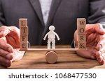 human figure standing between... | Shutterstock . vector #1068477530