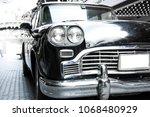 Black Vintage Car Headlights