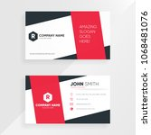 creative business card template.... | Shutterstock .eps vector #1068481076
