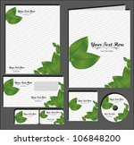 set of material corporate image.... | Shutterstock .eps vector #106848200
