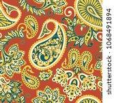 paisley seamless pattern....   Shutterstock . vector #1068491894