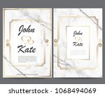 elegant creative business cards ... | Shutterstock .eps vector #1068494069