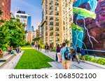manhattan  new york city   june ... | Shutterstock . vector #1068502100