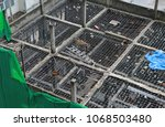 demolition of the building. | Shutterstock . vector #1068503480