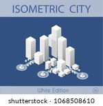 the isometric city with... | Shutterstock .eps vector #1068508610