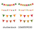 colorful buntings for cinco de... | Shutterstock .eps vector #1068509030