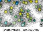 light colored vector pattern... | Shutterstock .eps vector #1068522989