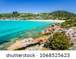 amazing view to small paradise... | Shutterstock . vector #1068525623