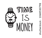 hand drawn watches and text.... | Shutterstock .eps vector #1068530798