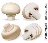 champignon mockup set.... | Shutterstock .eps vector #1068533558