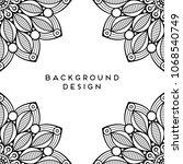 vector mandala background | Shutterstock .eps vector #1068540749