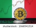 bitcoin  btc  cryptocurrency ... | Shutterstock . vector #1068541514