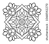 vector arabesque ornament | Shutterstock .eps vector #1068542270