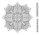 vector arabesque ornament | Shutterstock .eps vector #1068542294
