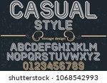 vintage font handcrafted vector ... | Shutterstock .eps vector #1068542993