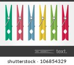 vector colored pegs  | Shutterstock .eps vector #106854329