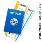 travel documents. international ... | Shutterstock .eps vector #1068543479