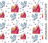a seamless pattern with a nice... | Shutterstock . vector #1068547193