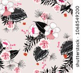 beautiful  floral pattern in... | Shutterstock .eps vector #1068549200