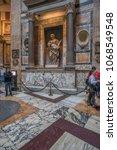 pantheon basilica  rome  italy...   Shutterstock . vector #1068549548