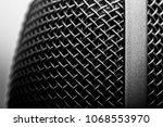 Grey Grid Of Microphone Macro