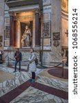 pantheon basilica  rome  italy...   Shutterstock . vector #1068556214