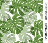 tropical pattern. seamless... | Shutterstock .eps vector #1068560810