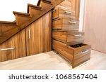modern architecture interior... | Shutterstock . vector #1068567404