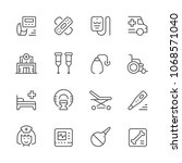 set of medical icons isolated... | Shutterstock . vector #1068571040