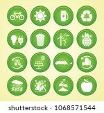 renewable energy icons. vector... | Shutterstock .eps vector #1068571544