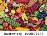 fruit and vegetable health food ... | Shutterstock . vector #1068578144