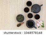 japanese sencha sukiygu makoto... | Shutterstock . vector #1068578168