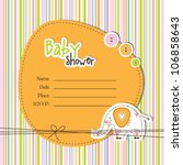 baby shower card | Shutterstock .eps vector #106858643