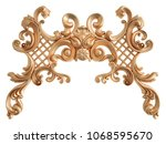 gold ornament on a white... | Shutterstock . vector #1068595670