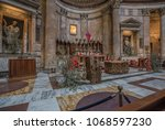 pantheon  rome  italy march 28  ...   Shutterstock . vector #1068597230
