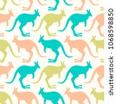 seamless pattern multi colored... | Shutterstock .eps vector #1068598850