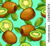 tropical fruit pattern... | Shutterstock .eps vector #1068602876