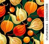tropical fruit pattern... | Shutterstock .eps vector #1068602888