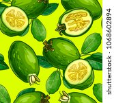 tropical fruit pattern... | Shutterstock .eps vector #1068602894