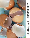 cracked egg shells. cracked... | Shutterstock . vector #1068603089