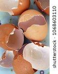 cracked egg shells. cracked... | Shutterstock . vector #1068603110