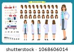 female doctor character... | Shutterstock .eps vector #1068606014