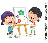 vector illustrations of kids... | Shutterstock .eps vector #1068607580