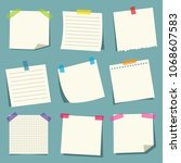 vector illustration of note... | Shutterstock .eps vector #1068607583